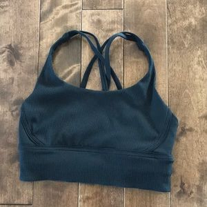 Lululemon Energy Bra Ribbed- Black- Size 6